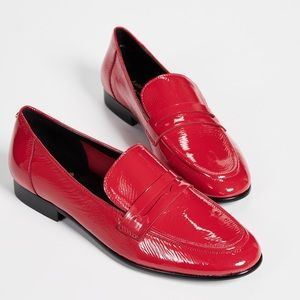 Kate Spade Red Patent Leather Loafers Size 10